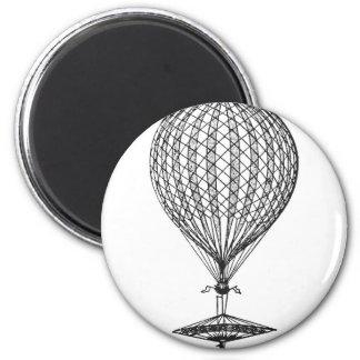 Antique UFO Balloon 1 6 Cm Round Magnet