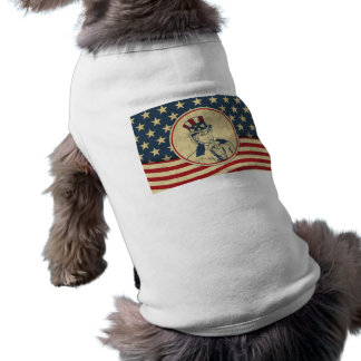 antique uncle sam sleeveless dog shirt