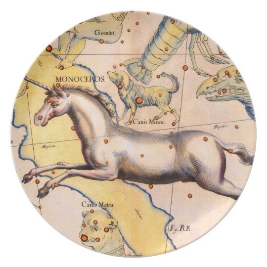 Antique Unicorn Horse Art Vintage Wall Decor Plate