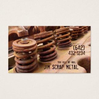 Antique Vehicle  Engine Scrap Metal Biz Business Card
