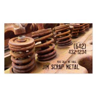Antique Vehicle  Engine Scrap Metal Biz Pack Of Standard Business Cards