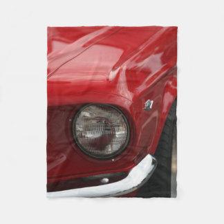 Antique Vehicle Headlight Red Paint Fleece Blanket