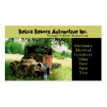 Antique Vehicle  Old Truck  Repair Shop Pack Of Standard Business Cards