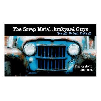 Antique Vehicle  Scrap Metal Biz Pack Of Standard Business Cards