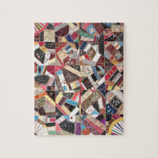 Antique, Victorian-Era, Crazy Quilt Jigsaw Puzzle