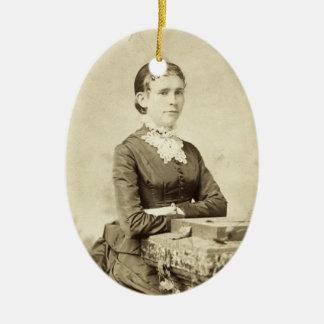 Antique Victorian Lady Portrait Christmas Image Christmas Ornament
