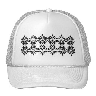 Antique victorian lolita damask pattern hats