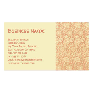 Antique Victorian William Morris Carnations Roses Business Card Template