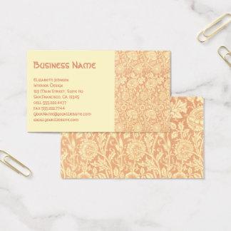 Antique Victorian William Morris Carnations Roses Business Card