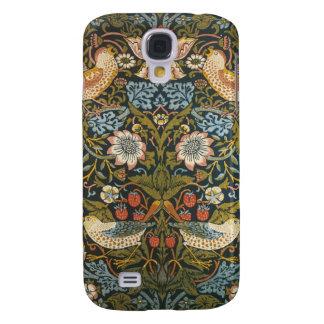 Antique Victorian William Morris Flowers Birds Galaxy S4 Case