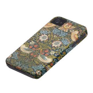 Antique Victorian William Morris Flowers Birds iPhone 4 Case
