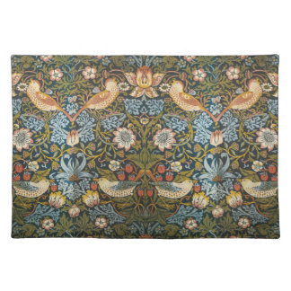Antique Victorian William Morris Flowers Birds Placemat