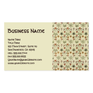 Antique Victorian William Morris Flowers Floral Pack Of Standard Business Cards