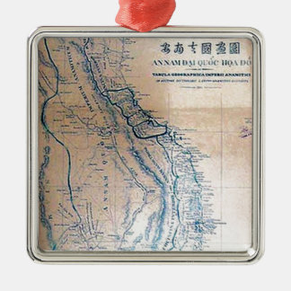 Antique Vietnamese map Christmas Ornament