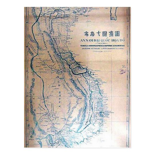 Antique Vietnamese map Postcard