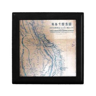 Antique Vietnamese map Small Square Gift Box