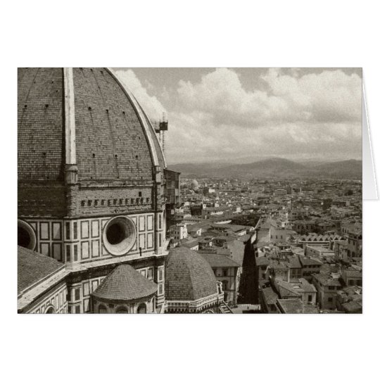 Antique View of Florence Card