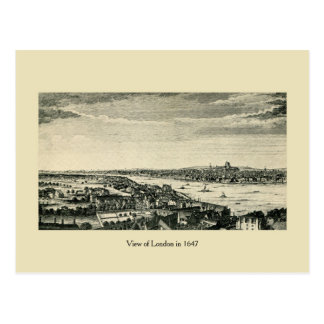 Antique View of London in 1647 Postcard