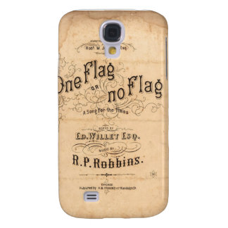 Antique Vintage Ad Label 3g/3gs i Galaxy S4 Case