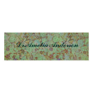Antique,vintage,aqua,floral,lace,pattern,victorian Double-Sided Mini Business Cards (Pack Of 20)