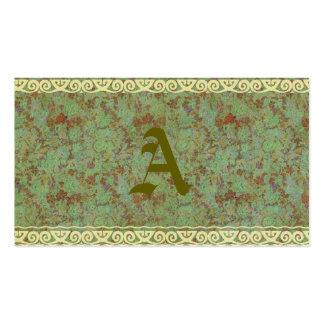 Antique,vintage,aqua,floral,lace,pattern,victorian Business Cards
