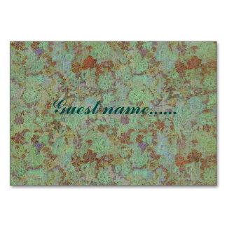 Antique,vintage,aqua,floral,lace,pattern,victorian Table Card