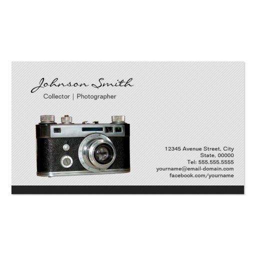 Antique Vintage Camera Collector Photographer Business Card Templates