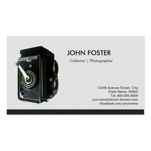 Antique Vintage Camera Collector Photographer Business Card Template