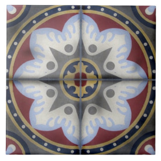 Antique Vintage cement french tile