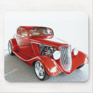 Antique Vintage Collector RED car Mousepad