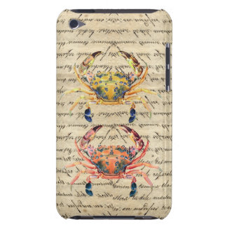 Antique Vintage crab illustration iPod Touch Cover
