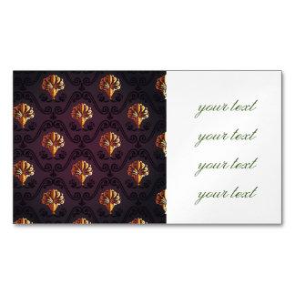 antique,vintage,fleur de lis,damask,rustic gold, magnetic business cards