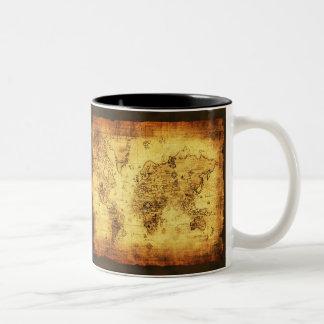 Antique Vintage Historic Old World Map Coffee Mug