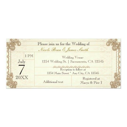 Antique Vintage Lacy Elegant Wedding Invitations