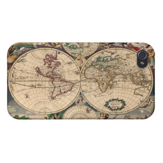 Antique Vintage Old World Map iPhone 4 Savvy Case iPhone 4/4S Cases