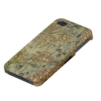 Antique Vintage Old World Map iPhone 4 Savvy Case iPhone 4/4S Cover