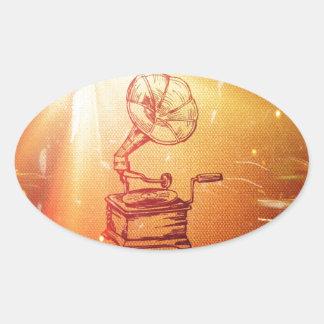 Antique Vintage Phonograph Retro Old Gramophone Sticker
