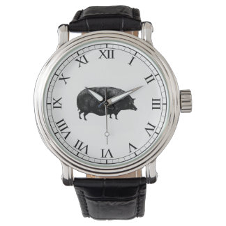 Antique Vintage Pig Watch