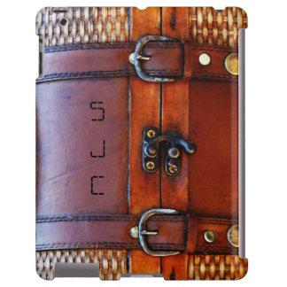 Antique Vintage Satchel with Personalized Initials iPad Case