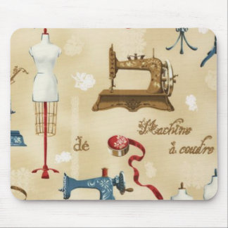 Antique Vintage Seamstress Design Mousepad