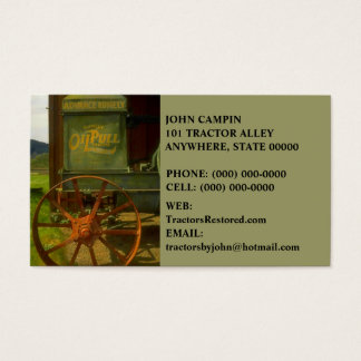 ANTIQUE VNTG TRACTOR RESTORATION ~ BUSINESS CARDS! BUSINESS CARD