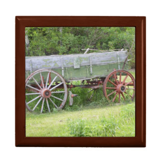 Antique Wagon Keepsake Box