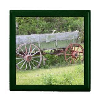 Antique Wagon Jewelry Box