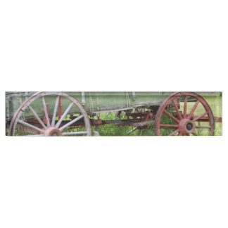 Antique Wagon Name Plate