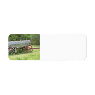 Antique Wagon Return Address Label