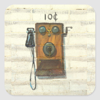 antique wall phone stickers