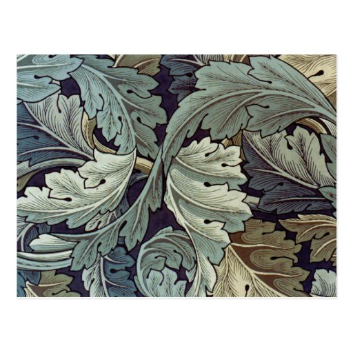 Antique wallpaper leaves post cards