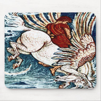 Antique Walter Crane Print Bellerophon on Pegasus Mousepad