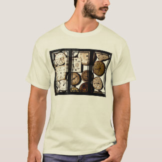 Antique Watch Face Triptych Art T-Shirt