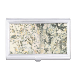 Antique Watercolor Coral Business Card Holder